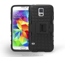 For galaxy samsung s5 kickstand armor case, heavy duty combo case for galaxy s5