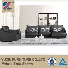 luxury italian fabric l-shape sofa