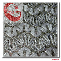 pu leather products tc backing glitter mesh leather
