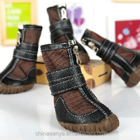The handsome pet dog shoes large dog slip martin boots snow boots warm dog shoes winter