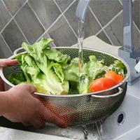 Кухня утварь из нержавеющей стали сливной корзины овощи и фрукты Корзина Корзина Корзина фруктов фрукты пластины овощи Рис промыть