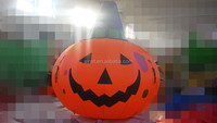 inflatable halloween pumpkin with lights for decoration