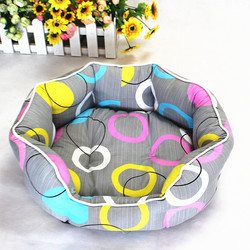 Pet supplies wholesale Taobao explosion models pet nest colored chintz cozy kennel cat litter - Queen