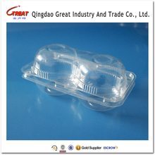 Apple Plastic Container 2 Compartments Fruit Packaging Tray