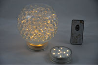Crystal lampshade 2.8 Inch Warm White LED Submersible Hanging Paper Lantern Light with remote