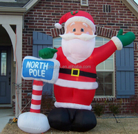 Party Outdoor Inflatables christmas inflatable santa claus ,20ft christmas inflatable santa G366