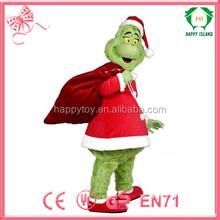 HI CE China factory costume,Christmas Carnival costume,christmas grinch mascot