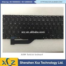 """اللغة التركية a1398 للتخطيط لوحة مفاتيح الكمبيوتر المحمول ماك بوك الشبكية 15.4"""""""