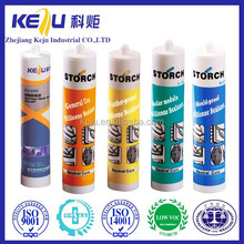 China supplier best general use silicone sealant white,black,clear,beige,blue