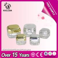 Classical square cosmetic acrylic jar, square acrylic jar for cosmetic,empty square acrylic contianers
