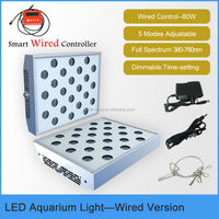 10 inch 80W programmable LED aquarium light full spectrum for reef coral fish aquarium with smart wired controller