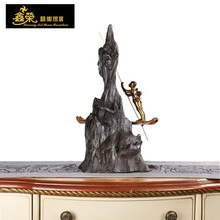 hot sale sculpture of boy boating around the buddha mountain statue home or temple decoration