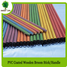 Eucalyptus wood pvc coated mop sticks