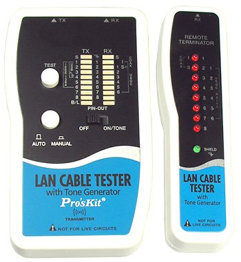 Pro'skit LAN del probador del Cable