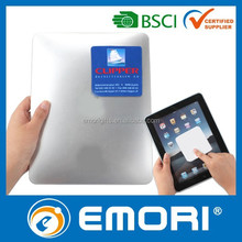 Custom gift microfiber self adhesive camera cellphone sticky screen cleaner