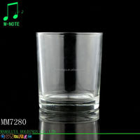 clear popular wholesale hot selling glass candle holder