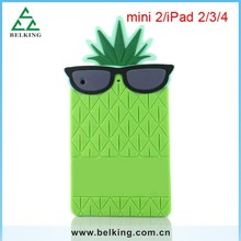 Pineapple Silicon Rubber 3D Case For iPad Mini Tablet, Tab Soft Case For iPad Mini Tab Gel Rubber Case