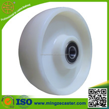 High quality hand pallet truck nylon wheel, nylon pulley wheels with bearings