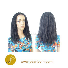 2015 NEWEST Synthetic Kanekalon Toyokalon Fiber 14 Inches Senegal Twist Braid Lace Front Wig