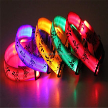 Low price promotion led dog collar personalized led collars