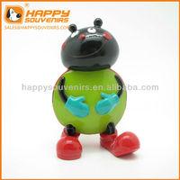 Custom craft cute animal ladybug resin home decoration