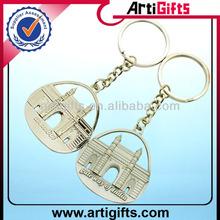 2014 3D deisgn make your own logo metal key chain