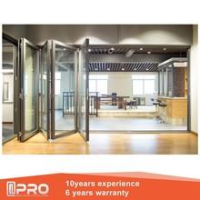 Pliage porte intérieure prix de l'aluminium extérieure porte pliante