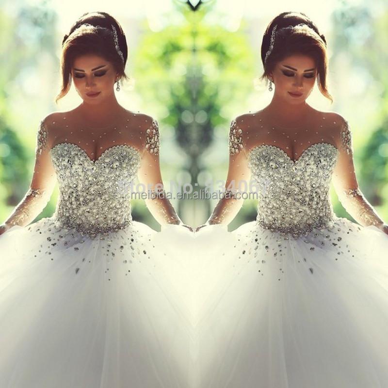 Свадебное платье пышное со стразами