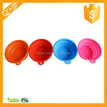 Portable Pet Dog/Cat Food/Water Foldable Silicone Collapsible Bowl for Travel