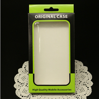 For iPhone 6 iPhone 5 iPhone 4 Case Fashion Green Paper Packaging with PVC Clear Window and Tray
