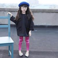 Корейские девушки ребенок дети тонкий стрейч леггинсы детей популярные узкие брюки