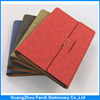 Leather loose-leaf metal ring diary cover Pu Leather Notebook with pocket