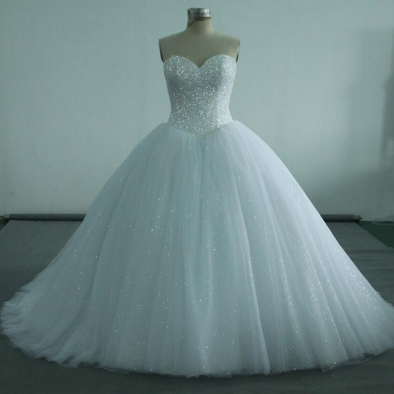 Nw1214 Real Sample Ball Gown Beaded Top With Gliter Tulle Skirt ...