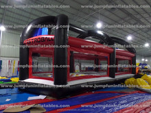 Multiduty Inflatable Sports Field/Bungee running/Basketball dunk/Football/gladiator/twister/soccer/volleyball picth