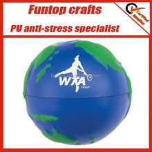 pu earth desktop bin stress ball,stress relief earth,custom pu earth cube stress ball