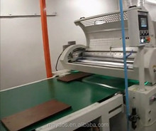 Roller Curtain Spray UV Cured Clear Wood Varnish by UV Coating Machine on Flat Smooth Surface Treatment