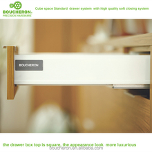 Venus height 85mm kitchen double walled drawer systems with silent ,soft close drawer system,tandem drawer box
