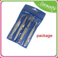 fashion lady tweezers ,H0T008, stainless steel series slanted high precise tweezer