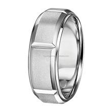 Matte Finish Male Plate 24K Gold Wedding Ring
