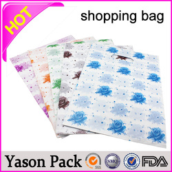 Yason paper craft shopping bag shopping compound plastic bag customized paper shopping bag