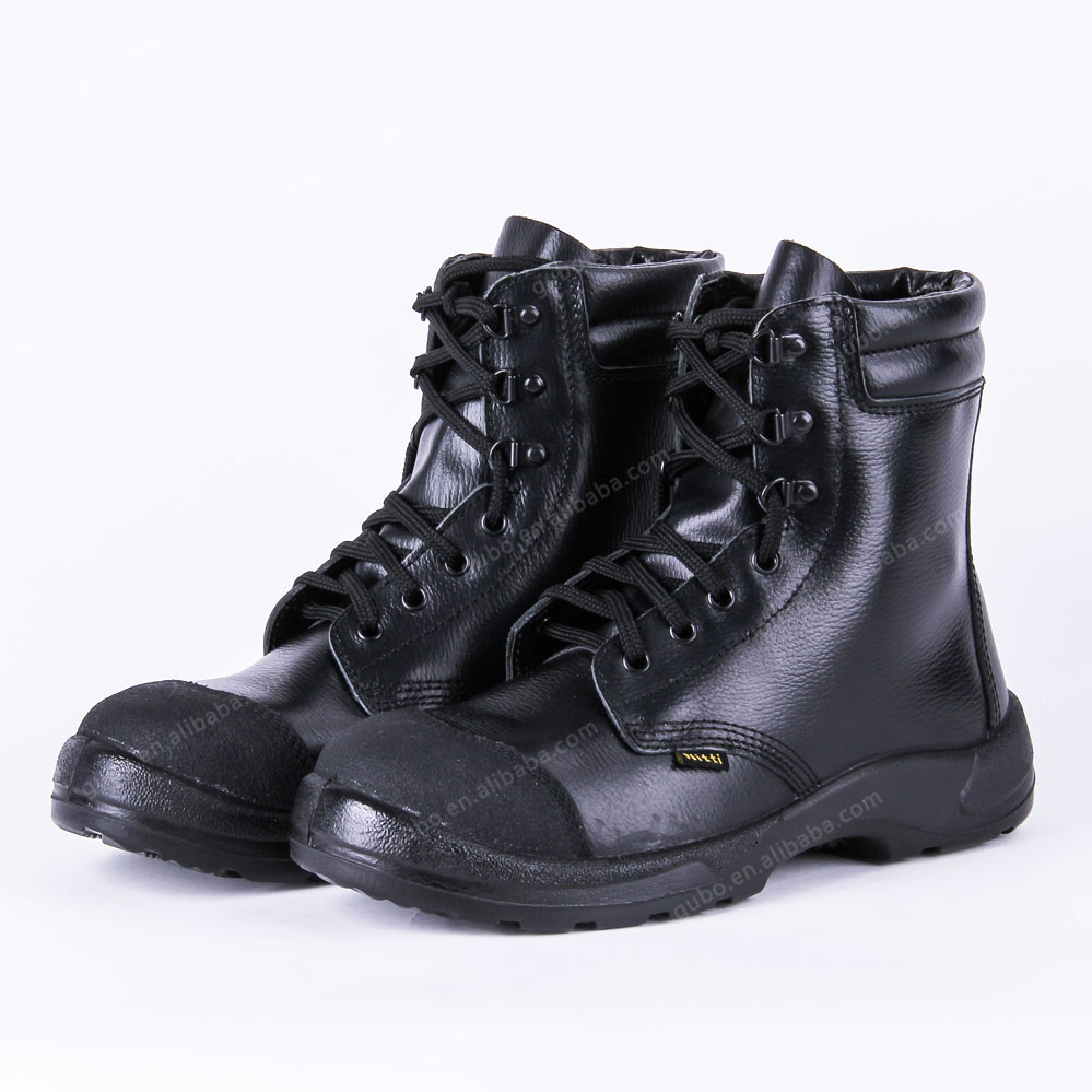 Buffalo Action Leather High Voltage Resisitant Black Steel Safety Shoes Price In Stock - Buy ...