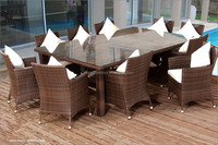 home dining set, rattan dining table and chair, design dining room set (DH-N9668)