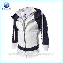 Super quality cotton zipper sweatshirt with hood, custom zipper up men fleece hooded jackets, fashion hooded sweater
