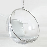 Triumph Acrylic Hanging Bubble Chair, clear Eero Aarnio ball chair, Retro design chair
