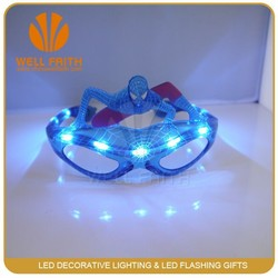 Cheap wholesale crazy party decorative spriderman hero mask plastic flashing led sunglasses