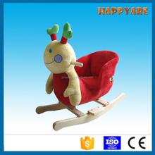 colorful ladybug plush rocking chair with sound baby rocker