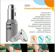 E-Warhead Fashion Car charger with bluetooth headset and safety hammer