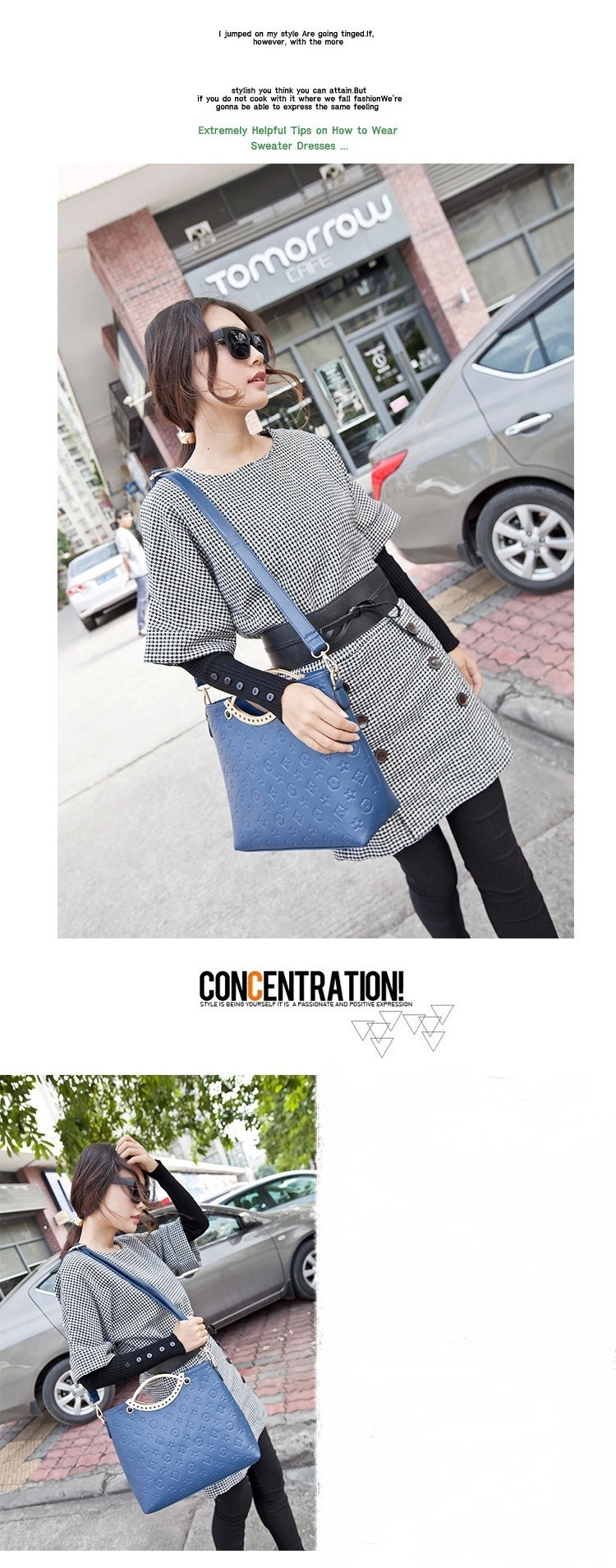 Women Leather Handbags Vintage Fashion Bolsas Femininas Embossed