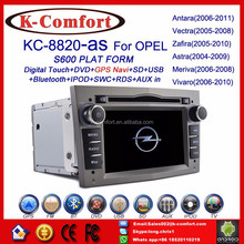 Factory supply opel meriva car dvd car radio with SWC GPS + Radio + RDS BT+ SD + USB CD/DVD IPOD Aux-in