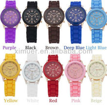 Promotional wholesale fashion jelly silicone watch for women